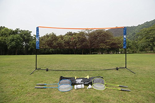 Bogalen Height Adjustable Badminton and Tennis Portable Net Set with 10-Feet Net, 4 Rackets and 3 Shuttlecocks by Bogalen (Image #6)