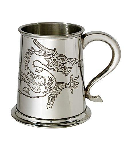 Dragon Tankard (Wentworth Pewter Chinese Dragon 1 pint Pewter Tankard)