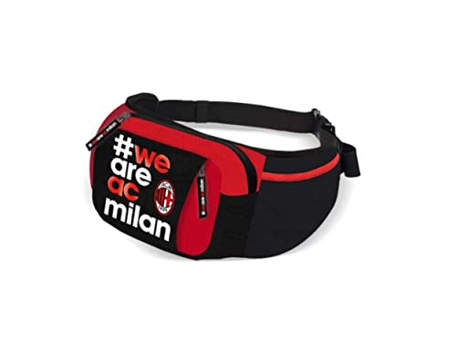Marsupio uomo AC MILAN in Cotone borsa borsello Multitasche squadra calcio