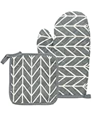 Luva Térmica de Cozinha Para Forno Fogão COR:CINZA-CHEV