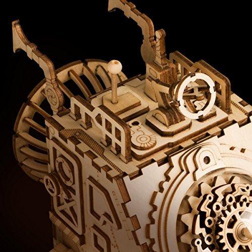 ROBOTIME Wooden 3D Puzzle Robot Space Vehicle Craft Kit DIY Music Puzzle Box