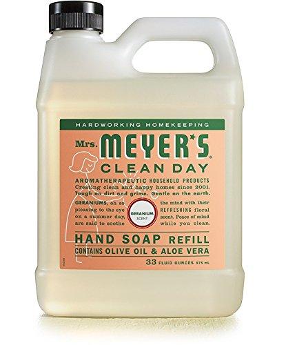 Mrs. Meyers Liquid Hand Soap Refill Liquid 33 Oz Geranium Scent (pack of 6)
