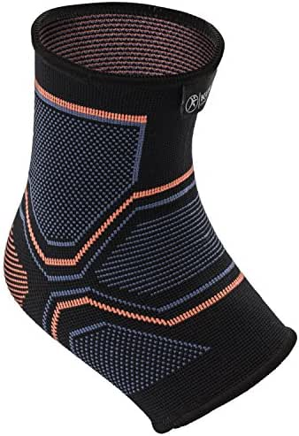 Kunto Fitness Ankle Brace Compression Support Sleeve for Injury Recovery, Joint Pain, Swelling, Plantar Fasciitis & Achilles Tendon - Superior Arch Support Foot Socks for any Activity! (Large)