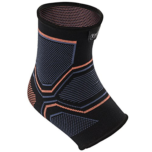 Kunto Fitness Ankle Brace Compression Support Sleeve for Injury Recovery, Joint Pain, Swelling, Plantar Fasciitis & Achilles Tendon – Superior Arch Support Foot Socks for any Activity! (Medium)