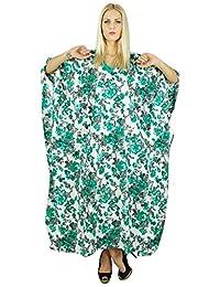 Kokom Women Hippy Bohemian Long Printed Kaftan Dress Cotton Nightwear Caftan