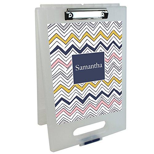 Navy Scribbles Personalized Clipboard Storage Case | Custom Clipboard | School Gear | Customized School Supplies | Kids Custom School Gifts