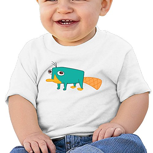 Price comparison product image Boss-Seller Phineas And Ferb Short Sleeve T Shirts For 6-24 Months Toddler Size 6 M White