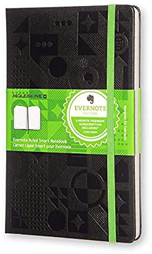 Moleskine Evernote Smart Notebook Large Ruled Black Hard