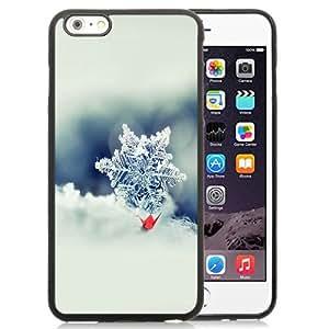 NEW Unique Custom Designed iPhone 6 Plus 5.5 Inch Phone Case With Snowflake Macro Photo Closeup_Black Phone Case wangjiang maoyi
