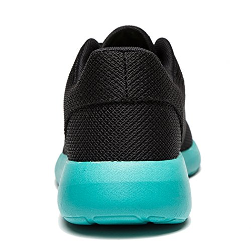Daillor & uomo donna air-breathing rete scarpe da corsa, camminata sneakers, (blackblue), 40