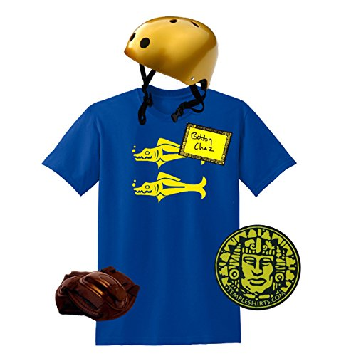 Legends of the Hidden Temple Costume | Shirt, Helmet, Sticker and Pendant (X-Large, Blue