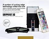 Laser Video Projector Laser Keyborad Projector Focus-Free Class 1 260LM 4K 1080p 3D, 2 Built-in Speaker,8GB high-speed Nand Flash, Wi-Fi Bluetooth USB microSDslot HDMI