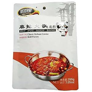 Spicy Element Mala Hot Pot Soup Base Huo Guo - 7.05 oz (Authentic Sichuan Cuisine Hot Pot)