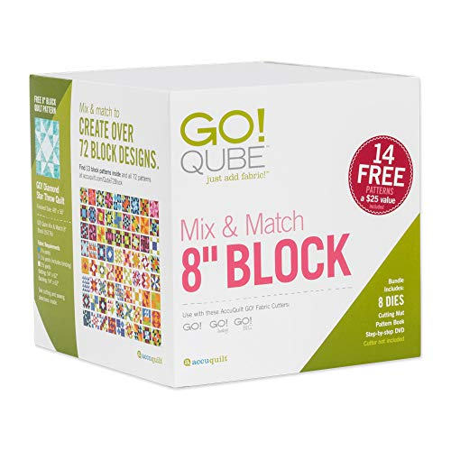 AccuQuilt GO! Fabric Cutting Dies; GO! Qube Mix & Match 8
