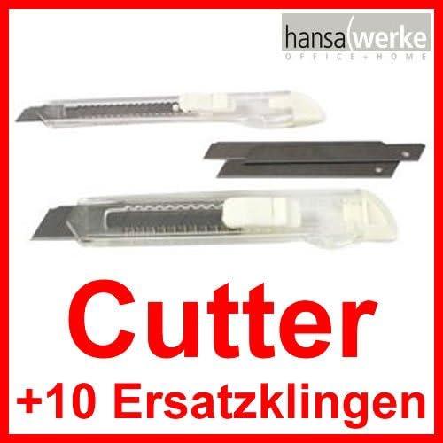index Cutter mit 10 Ersatzklingen auf Blisterkarte VE= 18 mm