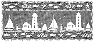 product image for Heritage Lace Harbor Lights 14-Inch by 48-Inch Runner, White
