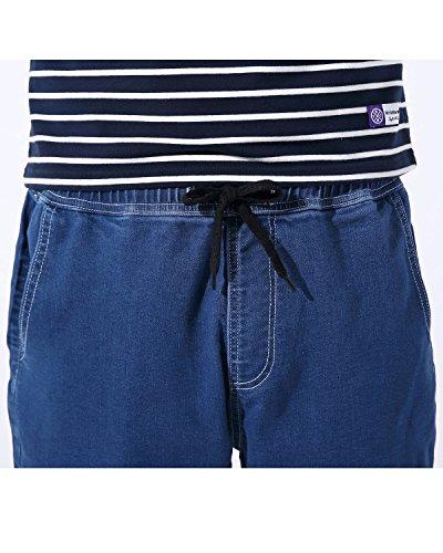 AOMO LOVE Men's Elastic Denim Shorts Casual Denim Shorts Slim Fit Jean Shorts (Blue, 40) by AOMO LOVE (Image #2)