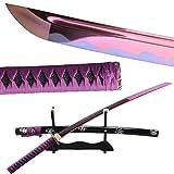 Handmade Noble Purple Blade Samurai Katana Sword