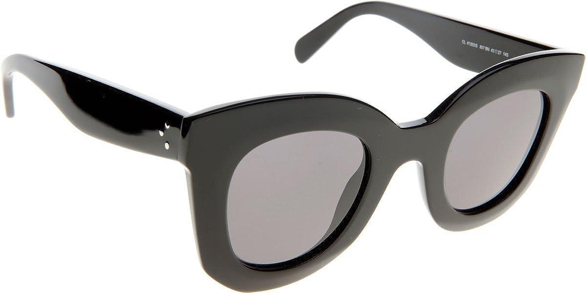 d306560e491c Celine 4139 S 807BN Black Baby Marta Round Sunglasses Lens Category 3 Lens  Mirr  Amazon.co.uk  Clothing
