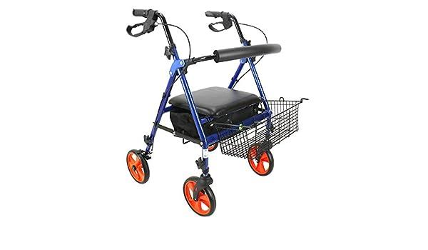 Rollator De Aluminio Ligero,andador Con Ruedas Ajustable Con ...