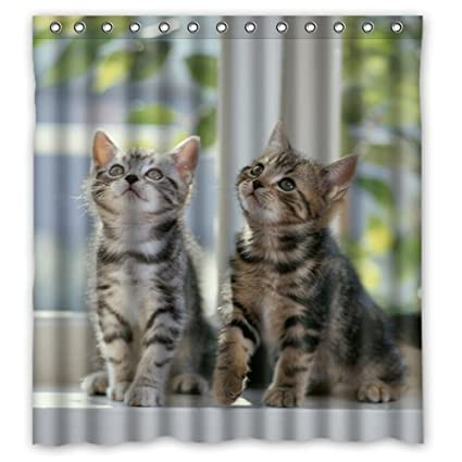 Image Unavailable Not Available For Color Innovation Print Design Cute Funny Cat Shower Curtain