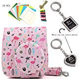 BGOING 4-in-1 Fujifilm Instax Mini 8/8+ 9 Watermelon Pink Camera Case Accessories Bundles (Camera Bag/Wall Decor Hanging Frames/Photo Frame Key Chain)