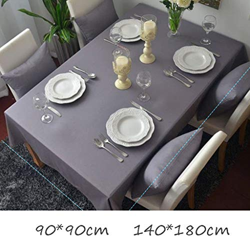 Price comparison product image NSC Solid Color Padded Tablecloth Tablecloth Fresh Garden Simple Fashion Holiday Party Cotton And Linen Wedding Room Fabric (Size : 9090cm)