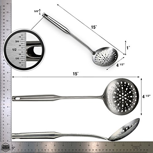 Pro Chef Kitchen Tools Stainless Steel Skimmer Spoon   Hand Spider Skimmer  Is Essential For Soups
