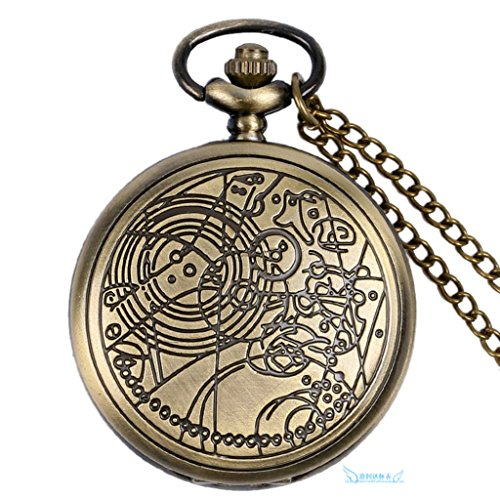Beydodo Silver Plating Necklaces for Women's, Classic Retro Clock Flower Pattern Round Pendant (Madonna Material Girl Fancy Dress)