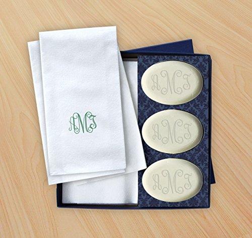 Personalized Soap & Guest Towel Set - Monogram - 2860_O_M