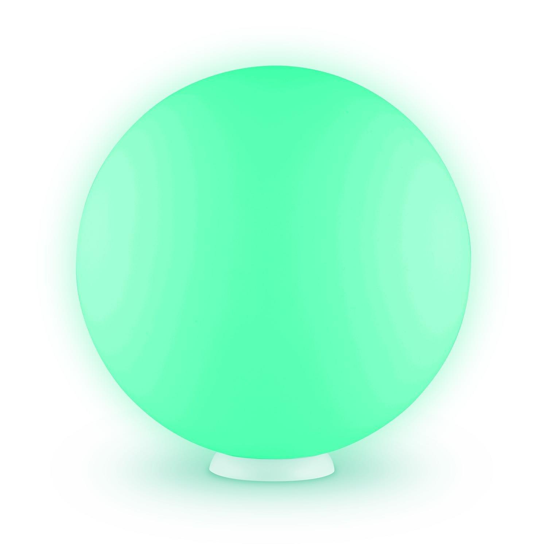 Blumfeldt Eggy • LED-Lampe • Deko-Lampe • für Innen- und Außenbereich • aus UV-stabilem Polyethylen • wassergeschützt nach IP65 • 6 LEDs mit 16 verschiedenen Farben • Fernbedienung • kabellos LEU7-Eggy