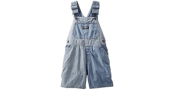 c0ff5bf8a OshKosh B'Gosh - Pantalón de peto - para bebé niño azul 74 cm: Amazon.es:  Ropa y accesorios