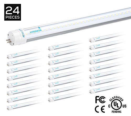 Hyperikon T5/T8 LED Light Tube, 3.75 FT (45.25 Inches), 2...
