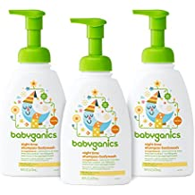 Babyganics Baby Shampoo + Body Wash, Orange Blossom, 16oz Pump Bottle (Pack of 3)