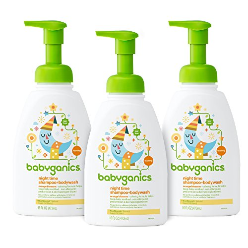 Babyganics Baby Shampoo + Body Wash, Orange Blossom, 16oz Pump Bottle (Pack of 3) ()