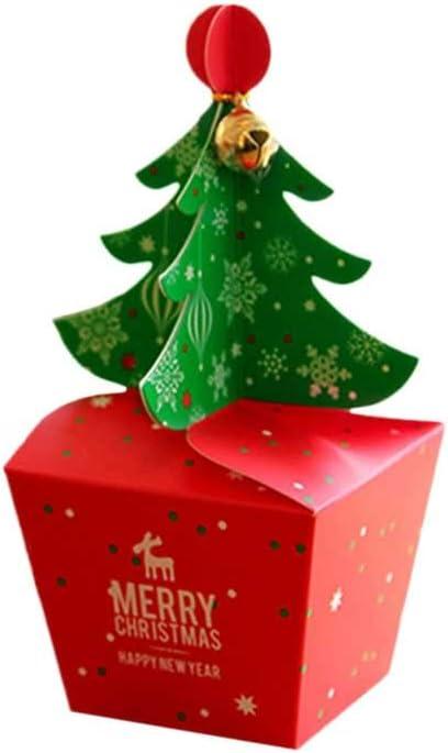 Toyvian 10pcs Caja Navidad Caja de Apple Caja de Dulces de Navidad ...