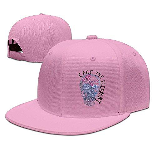 KIYOMM Unisex Cage The Elephant Adjustable Snapback Hip-hop Baseball Hat/Cap Pink (Custom Costumes In Edmonton)