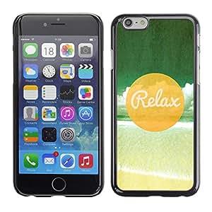 Cubierta protectora del caso de Shell Plástico    Apple Iphone 6 Plus 5.5    Relax Beach @XPTECH