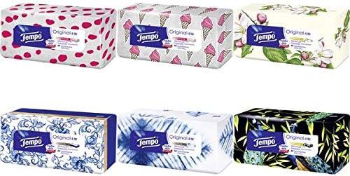 Tempo Taschentücher Original, 4-lagig, weiß, 80er Box, Sie erhalten 1 Packung, Packungsinhalt: 80 er Box