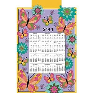 """Butterflies 2014 Jeweled Felt Calendar Kit-16""""X24"""""""