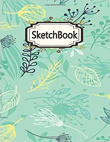 sketchbook blank pages extra large 85 x 11 inches 110 pages white paper sketch draw and paint