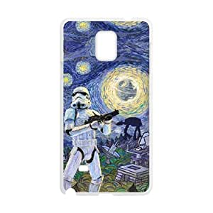 Samsung Galaxy Note 4 Cell Phone Case White Stormtrooper Starry Night KOJ Cell Phone Case Custom Unique