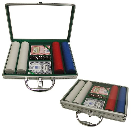 Trademark Poker 200 Super Diamond Poker Chip Set with Clear Cover Aluminum Case