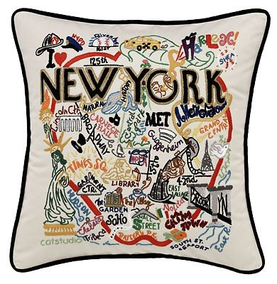 Catstudio New York City Pillow - Geography Collection Home Décor 083(CS) by Catstudio Embroidered Pillow