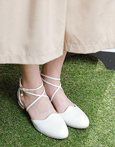 Loisir Boucle Breloque Blanc Aisun Femme Princesse Escarpins Chic Cross xAqpzwYp