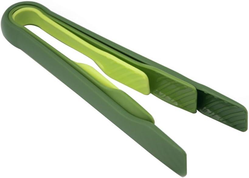 3piezas/set plástico Pan Pinza Clip pinzas de barbacoa de verduras y ensalada alimentos pinzas para servir, cm. 8pulgadas 10pulgadas
