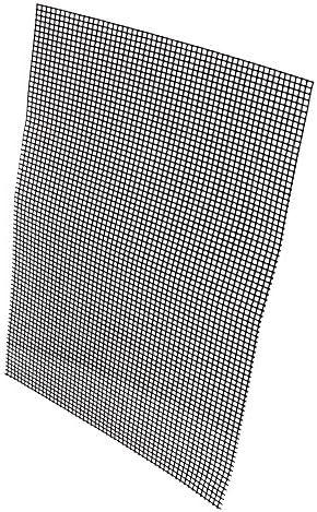 BQLZR Grille en fibre de verre anti-adhésive pour barbecue 33 x 40 cm Noir