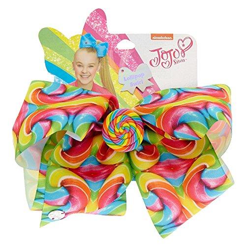 Jojo Siwa Large Rainbow Lollipop Swirl Hair Bow Sweet Life Collection - Lollipop Hair Bows