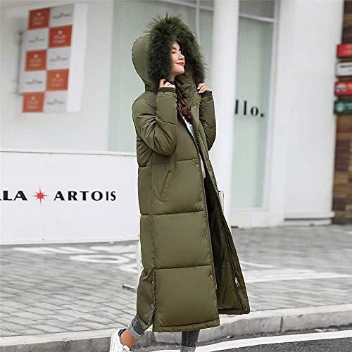 Army color Outwear Algodón Invierno Large Mujer Abrigo Chaqueta Largo Zhrui Con Acolchado Abajo Tamaño Capucha Informal Parka Green1 0F6wOxPq
