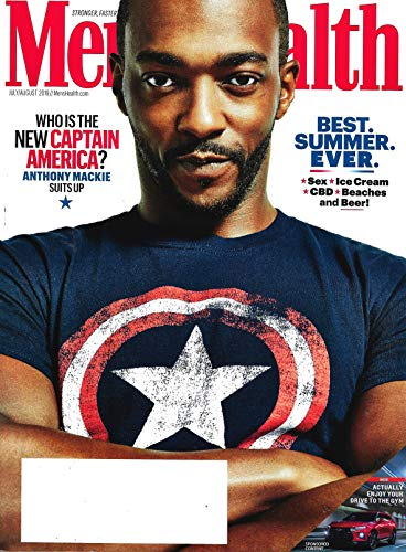 Men's Health Magazine (July - August, 2019) ANTHONY MACKIE as CAPTAIN AMERICA Cover